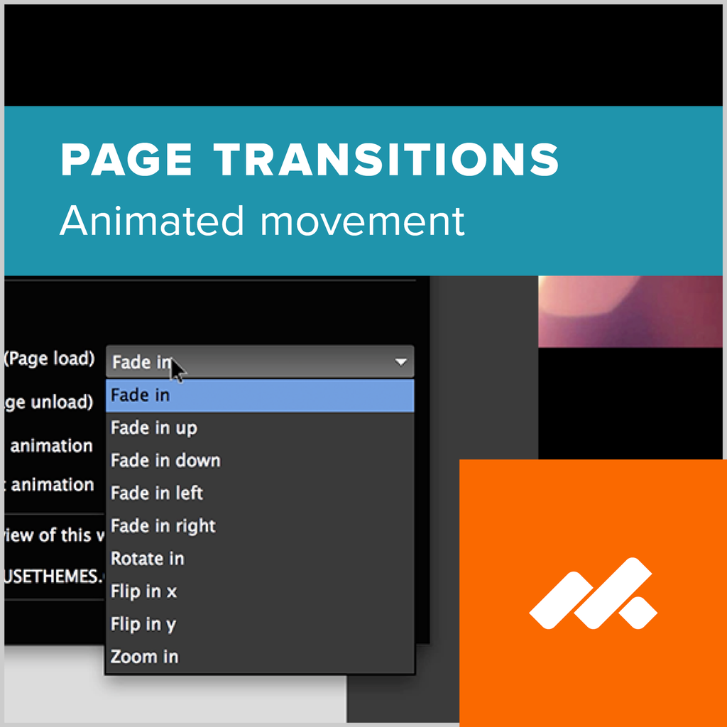 Animated Page Transitions Widget for Adobe Muse by MuseThemes
