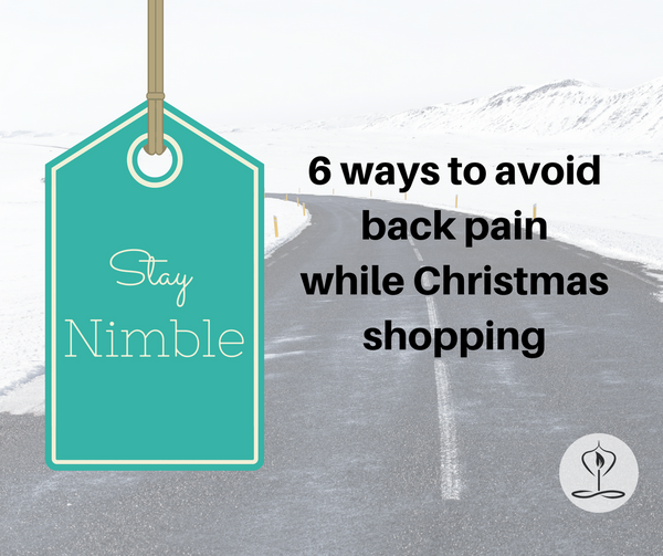 Nimbleback's 6 ways to avoid back pain while Christmas shopping