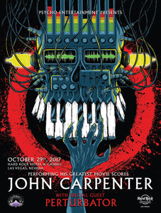 """John Carpenter & Perturbator"" GLOW-IN-THE-DARK POSTER"