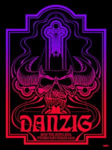 """Danzig"" BLACKLIGHT POSTER"