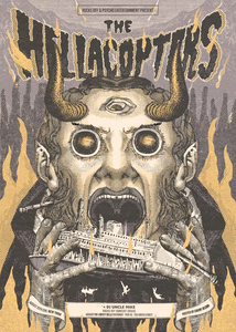 """The Hellacopters"" New York 2018 Poster"