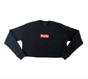 """Psycho Supreme"" CROP TOP SWEATSHIRT"