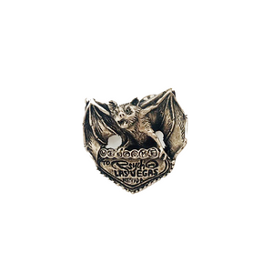 """Bat Country"" WHITE BRONZE PIN"