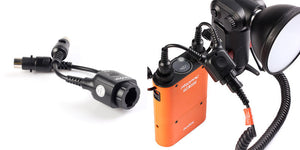 Cable 2 a 1 para Flash Godox Wistro