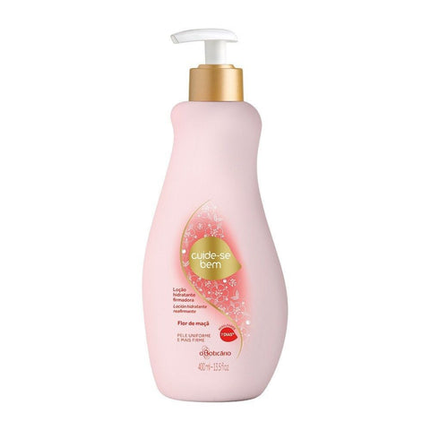 O Boticario Cuide-se Bem Moisturizing Lotion - Apple Flower - 400ml/13.5oz - Bom Dia Beauty