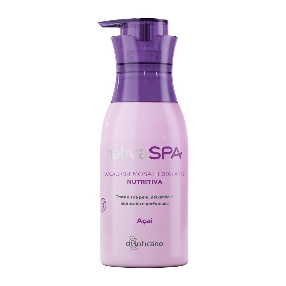 O Boticario Nativa SPA Moisturizing Body Lotion - Acai - 400ml/13.5oz - Bom Dia Beauty