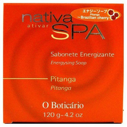 O Boticario Nativa SPA Bar Soap - Pitanga (Surinam Cherry) - 120g/4.2oz - Bom Dia Beauty