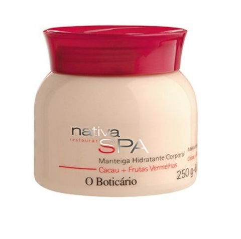 O Boticario Nativa SPA Body Butter - Cocoa & Red Berries - 250ml/8.4oz - Bom Dia Beauty
