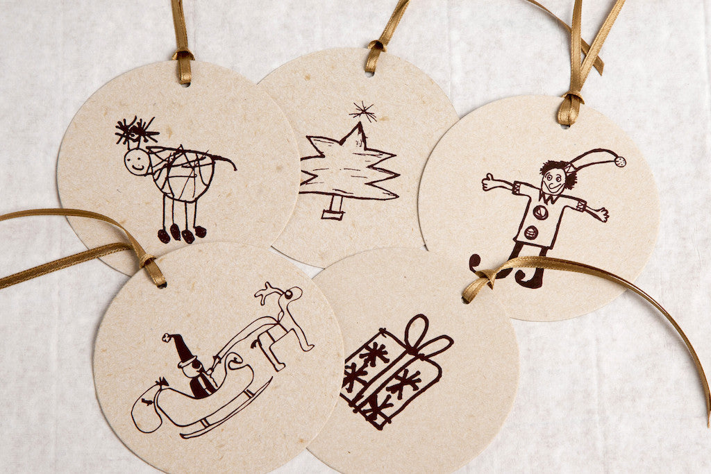 Christmas tags - bag of 5