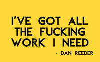 "Dan Reeder ""Work"" Sticker - OH BOY RECORDS - OH BOY RECORDS"