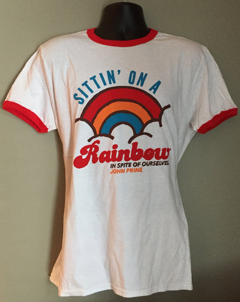 "In Spite of Ourselves ""Sittin' On A Rainbow"" - Unisex Ringer T-Shirt - OH BOY RECORDS"