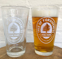 John Prine - The Tree of Forgiveness Pint Glasses - OH BOY RECORDS