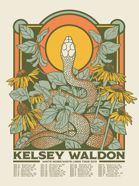 Kelsey Waldon 2019 Limited Edition Tour Poster - OH BOY RECORDS