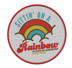 Sitting On A Rainbow Iron-On Patch - OH BOY RECORDS