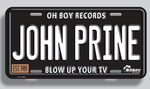 John Prine License Plate - OH BOY RECORDS