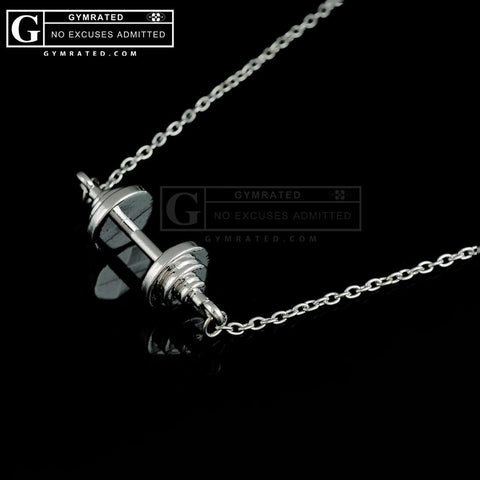 Straight Barbell Charm Necklace
