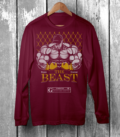 "Bryan ""The Beast"" Cromer MMA Fighter Men's Tops by GYMRATED™"