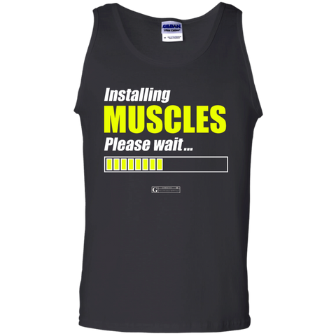 """Installing Muscles Please Wait"" Men's Tees & Tanks"