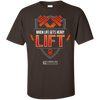 "Image of ""When Life Gets Heavy Lift"" Men's Tees & Tanks"