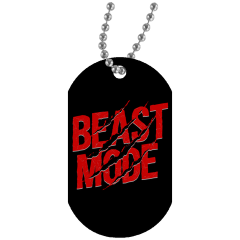 """Beast Mode"" Dog Tags"