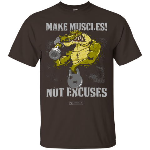 """Make Muscles Not Excuses"" Men's Tees & Tanks"