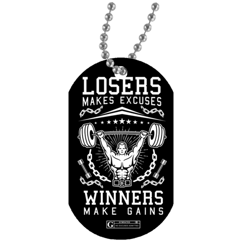 """Winners Make Gains"" Dog Tags"