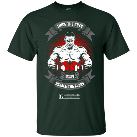 """Twice The Guts Double The Glory"" Men's tees & Tanks"