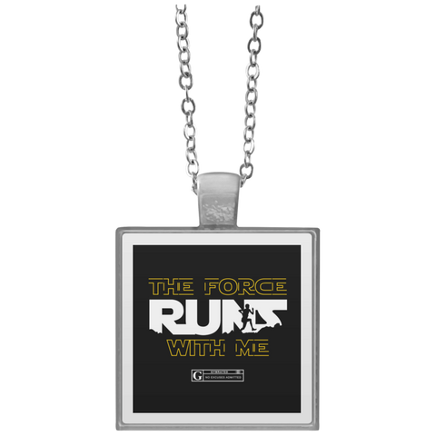 """The Force Runs With Me"" Square Pendant Necklaces"