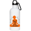 "Image of ""Don't Hate Just Meditate"" Stainless Steel Water Bottle"