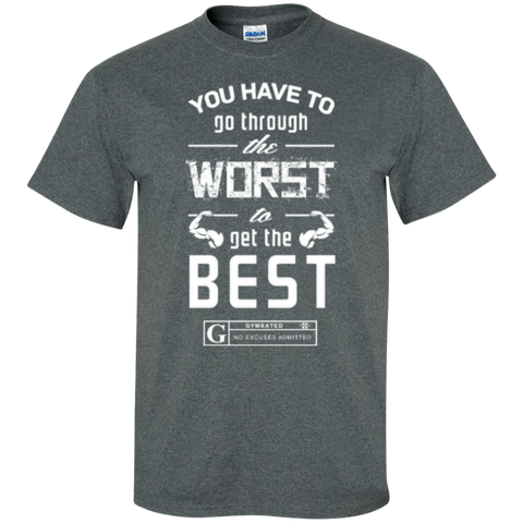 """Worst to Best"" Men's Tees & Tanks by GYMRATED™"