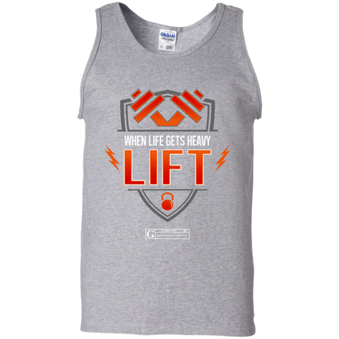"""When Life Gets Heavy Lift"" Men's Tees & Tanks"