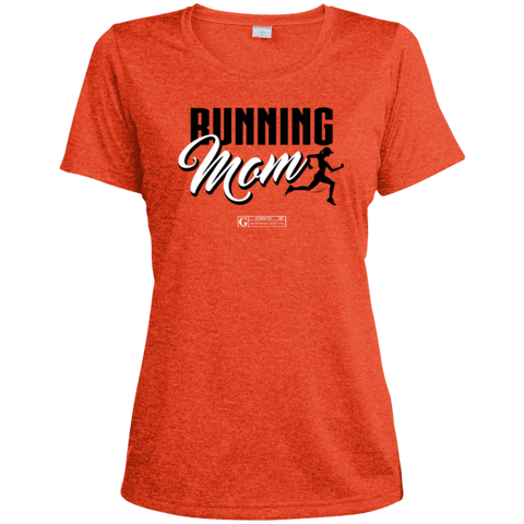 """Running Mom"" Ladies Dri-Fit Moisture-Wicking Tee"