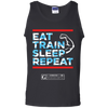 "Image of ""Eat Train Sleep Repeat"" Men's Tees & Tanks"