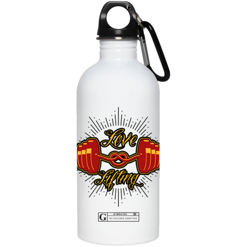 """Love Lifting"" Stainless Steel Water Bottle"