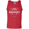 "Image of ""When In Doubt Workout"" Men's Tees & Tanks"