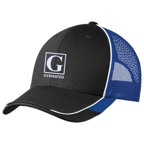 Official GYMRATED™ Brand Emboridered Colorblock Mesh Back Cap