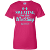 "Image of ""Sweating For The Wedding"" Ladies Tees & Tanks"