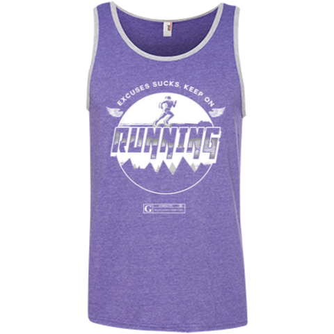 """Excuses Sucks, Keep On Running"" Men's Tees & Tanks"