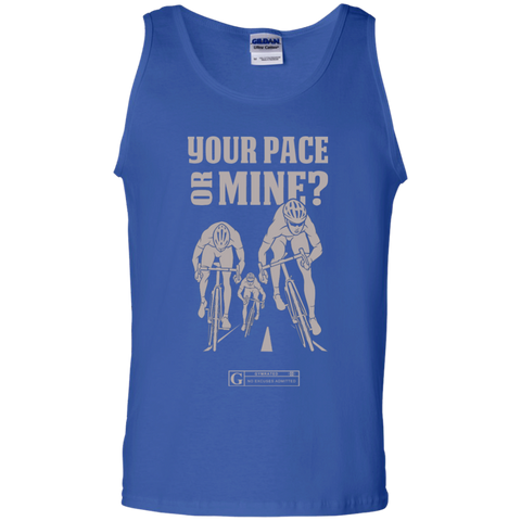 """Your Pace Or Mine Cycling"" Men's Tees & Tanks"