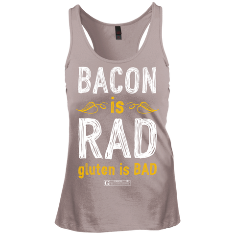 """Bacon Is Rad Gluten Is Bad"" Ladies Tees & Tanks"