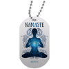 "Image of ""Namaste"" Dog Tags for Yoga Lovers"