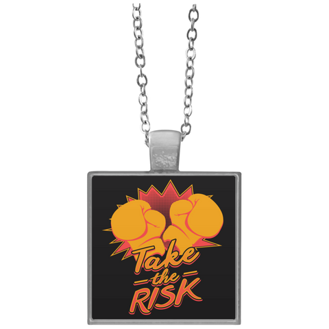"""Take The Risk"" Square Necklace"