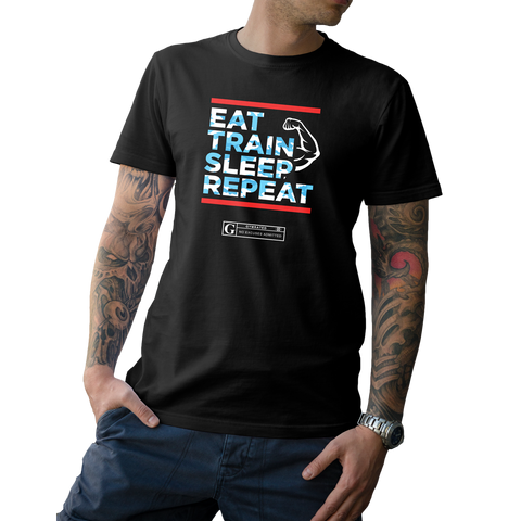 """Eat Train Sleep Repeat"" Men's Tees & Tanks"