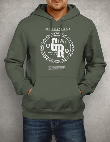 """GYMRATED - Hardcore Wear"" Men's Long Sleeve Tees & Hoodies"