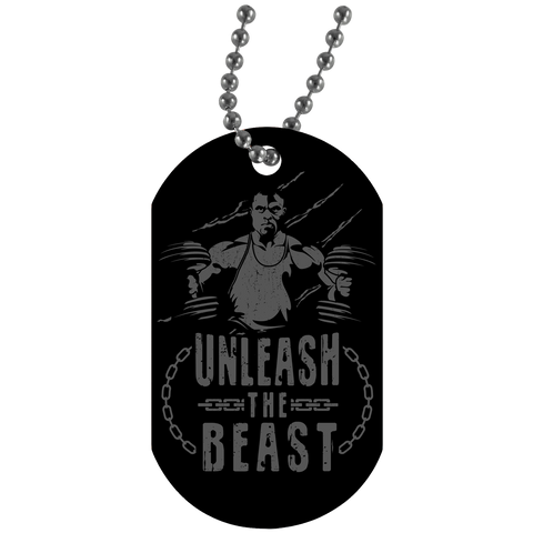"""Unleash the Beast"" Dog Tags"