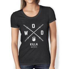"""WOD Killa (Crossfit Shirt)"" Ladies Tees & Tanks"