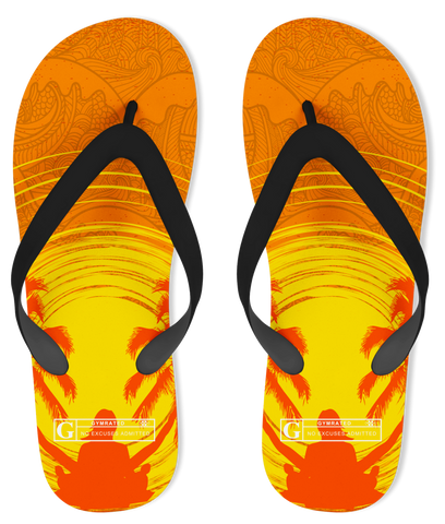 """Yoga by the Sea"" Flip Flops"