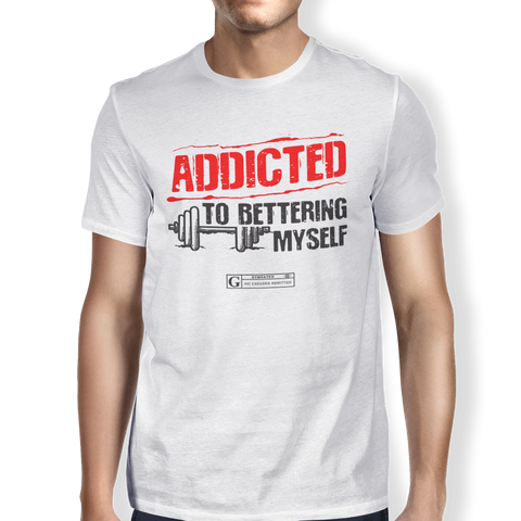 """Addicted To Bettering Myself"" Men's Tees & Tanks"