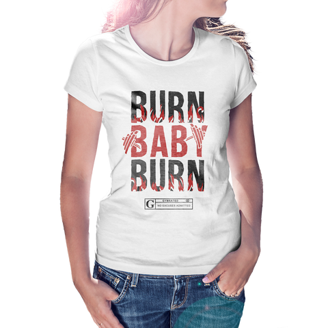 """Burn Baby Burn"" Women's Tees & Tanks"