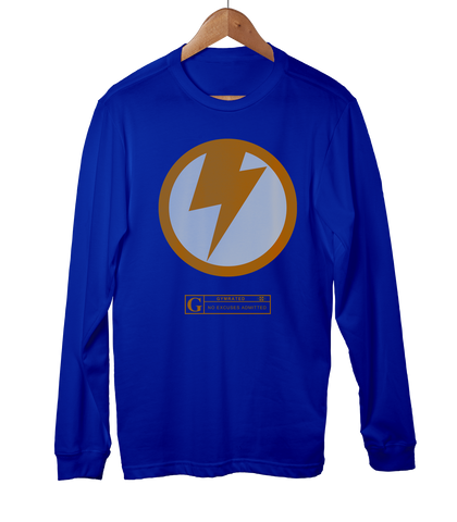 """Thunderbolt"" Men's Long Sleeve Tees & Hoodies by GYMRATED™"